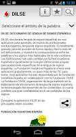 Screenshot of Diccionario Lengua Signos ESP