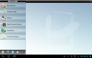 Screenshot of Service 1st Mobile Tablet