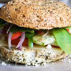 Fresh Veggie Bagel Sandwich - Snacks