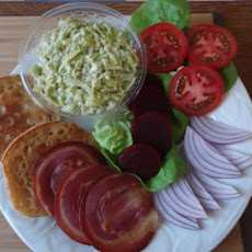 Egg and Cheese Salad with Spicy Cilantro-Pepitas Aioli