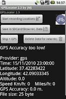 Screenshot of GPSLocator
