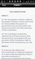 Screenshot of Constitution of Ghana