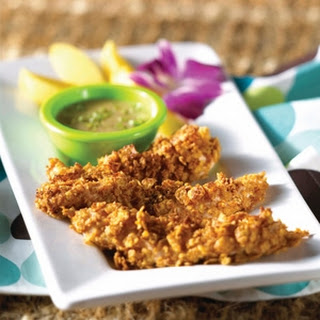 Jamaican Chicken Fingers with Honey-Mustard Sauce