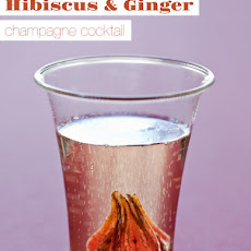 Hibiscus and Ginger Champagne Cocktail