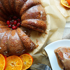 Cranberry Citrus Bundt ~ Cinnamon Glaze