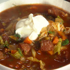 Kielbasa, Potato and Cabbage Soup