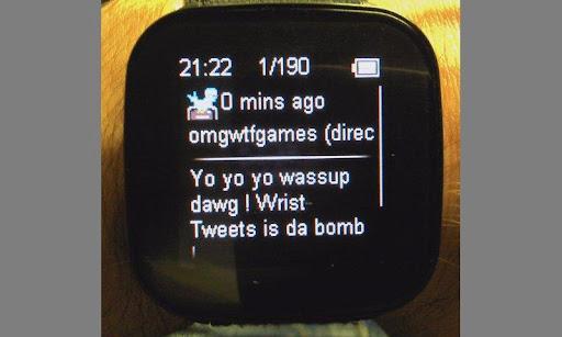 Wrist Tweets demo