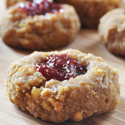 Vegan, Gluten-Free Thumbprint Cookies