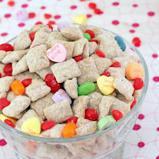 Cinnamon White Chocolate Valentine's Day Puppy Chow