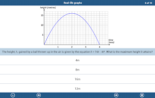 Screenshot of GCSE Maths Algebra Revision LE