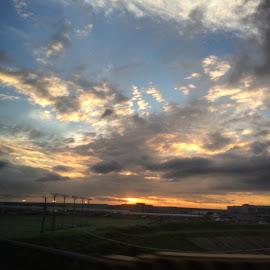 Sunrise in Panama City by Maria Sotirhos - Landscapes Cloud Formations ( #panama #panamacity #clouds #sunrise )