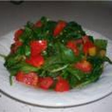 Spinach Sauté With Red Bell Pepper & Preserved Lemons