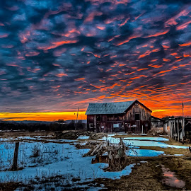 Winter Warmth by Brian Hart - Landscapes Sunsets & Sunrises