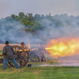 Artillery Firing by Tom Sevart - Abstract Fire & Fireworks ( battlefield, national park, missouri, springfield, wilson's creek )