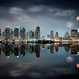 San Diego Skyline by Michael Otter - City,  Street & Park  Skylines (  )