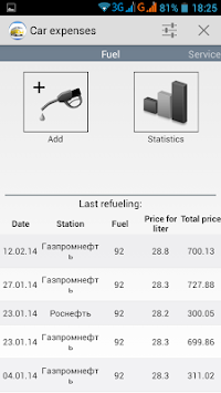 Car Expenses APK screenshot thumbnail 1