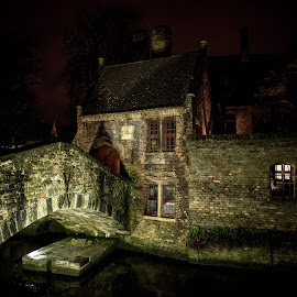 Bruges anno 1570 by Kurt De Somviele - Buildings & Architecture Public & Historical ( night photo, night photography, night, medieval, city )