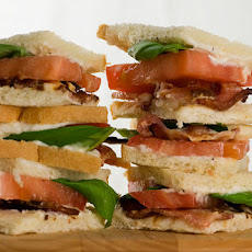 Mini Bacon Tomato and Basil Sandwiches