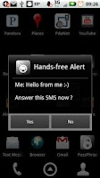 Screenshot of Hands-free Alert