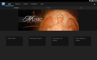 Screenshot of Ancient Faith Radio