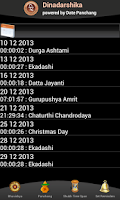 Screenshot of DATE PANCHANG DINADARSHIKA