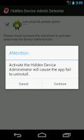 Screenshot of Hidden Device Admin Detector