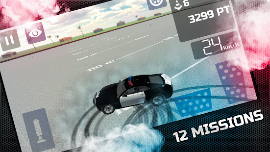 Police Car's Crazy Drift Free - screenshot