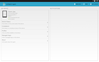 Screenshot of AirWatch MDM Agent