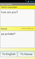 Screenshot of Hausa English Translator