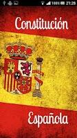 Screenshot of Constitución Española