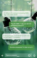 Screenshot of GO SMS PRO RAINY THEME