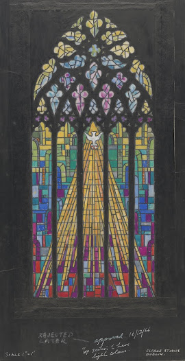The notes at the bottom of this design indicate that it was initially approved by the patrons in Cork cathedral, but eventually rejected. Was it perhaps too 'modern'?