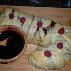 Raspberry Walnut Baked Brie