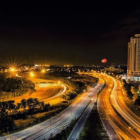 Highway  by Samaneethi Krishnan - City,  Street & Park  Night ( light trail, night photography, long shutter,  )