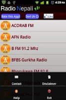 Screenshot of Radio Nepali