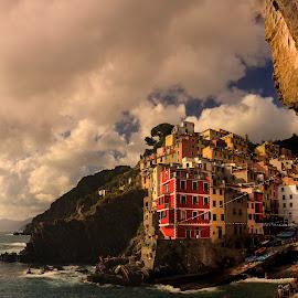 Cinque Terre by David Kooijman - Landscapes Travel ( rio maggiore, cinque terre, seascape, italy )