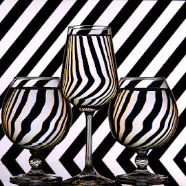 Zebra Stripes #2 by Rakesh Syal - Artistic Objects Glass (  )