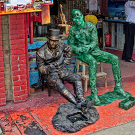 Toy soldiers  by Phil Robson - People Street & Candids ( soldier, london, street, costume, camden )
