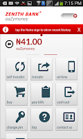 Screenshot of Zenith Bank Mobile App
