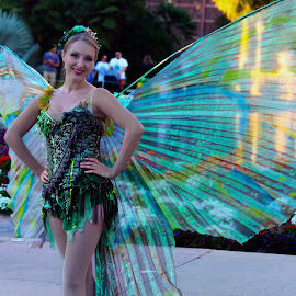 Fairy Friend by Derrik Kasl - Novices Only Portraits & People ( #fairy #portrait #balboapark #green #wings )