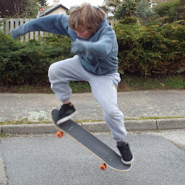 Practise makes perfect by Karen Russell - Sports & Fitness Skateboarding ( action, skateboard, boy )