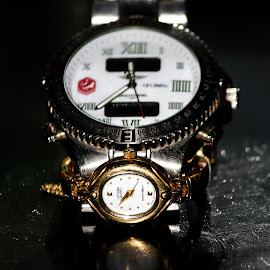 Mr & Mrs Time by Gihan Chamara - Artistic Objects Clothing & Accessories ( time, couple, object, watches )