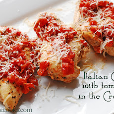 Italian Chicken with Tomatoes in the Crock-Pot