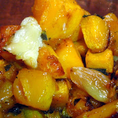 Roast Butternut Squash With Maple Syrup and Ginger