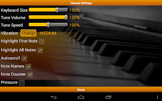 Screenshot of Piano Melody Pro