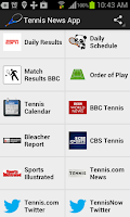 Screenshot of Tennis News App