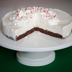 Frozen Black Bottom Peppermint Pie