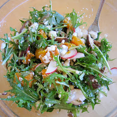 Autumn Salad with Roasted Squash, Apple, Radish and Goat Cheese
