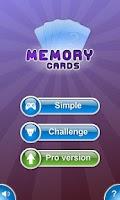 Screenshot of Memory Cards