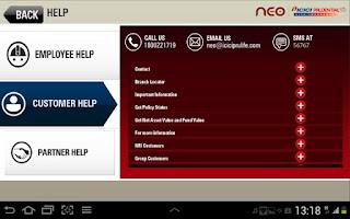 Screenshot of ICICI PruLife NEO